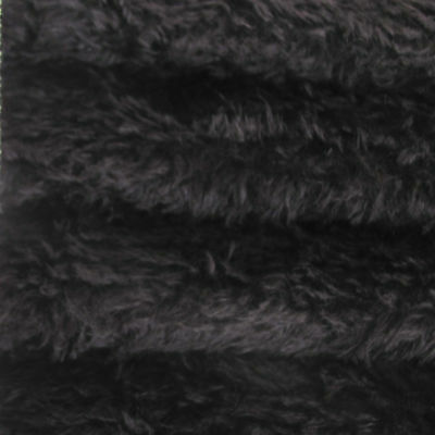 "1/6 yd 325H Black INTERCAL 5/8"" Semi-Sparse Heirloom Finish German Mohair Fabric"