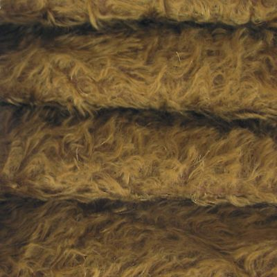 "1/4 yd 325H Chocolate INTERCAL 5/8"" Semi-Sparse Heirloom Finish Mohair Fabric"