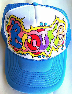 a806f31d Brooke Your Name Gift Trucker Hats Caps Personalized Custom Graffiti  Airbrush