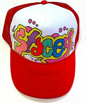 02fb4a439 STACEY YOUR NAME Gift Trucker Hats Caps Personalized Custom Graffiti  Airbrush