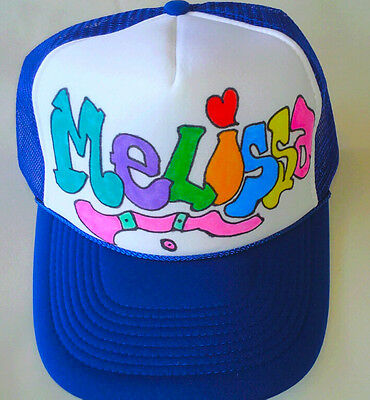 202a2662 Melissa Your Name Gift Trucker Hats Caps Personalized Custom Graffiti  Airbrush