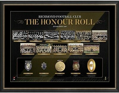 Richmond Framed Honour Roll Print 2017 Premiers Afl Brownlow Medallist Martin