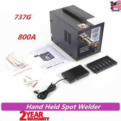 737G Spot Welder Battery Hand Held SUNKKO with Pulse&Current Display 800A 110V