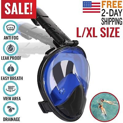 Full Face Snorkel Mask Scuba Diving Swimming Easy Breath Underwater Anti Fog
