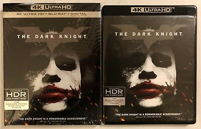 Dc The Dark Knight 4K Ultra Hd Blu Ray 3 Disc Set + Slipcover Sleeve Free Ship