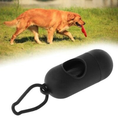 Dog Waste Sacks Dispenser With Bags and Lead Clip Attachment Holder Walking