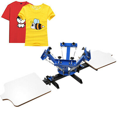 4 Color 2 Station Silk Screen Printing Machine Print Screening T-Shirt UPDATED