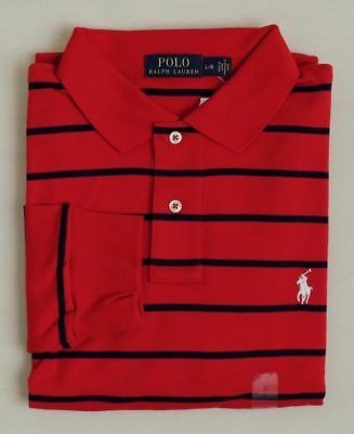Polo Ralph Lauren Striped Long Sleeves Pony Classic Soft Touch Holiday Shirt M L