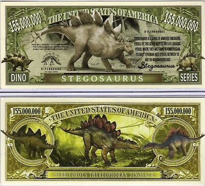 Stegosaurus - Dino Series 155 Million Dollar Novelty Money