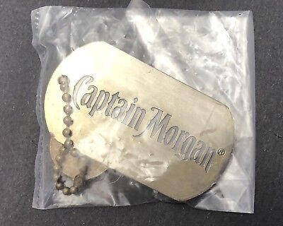 5 X Captain Morgan - Dog Tags - Key Ring - Rum - Spiced Rum - Pirate