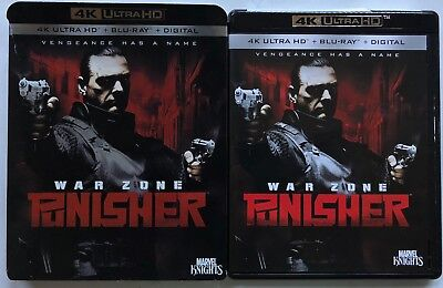 Punisher War Zone 4K Ultra Hd Bluray 2 Disc Set + Slipcover Sleeve Free Shipping