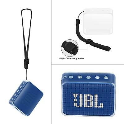 Durable Cover Box Silicone Carry Case Bag For JBL GO 2 Bluetooth Speaker White