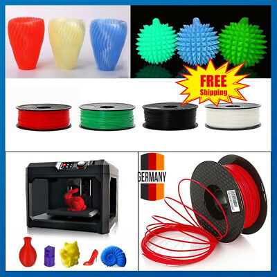 3D Drucker Filament 1kg Rolle PLA 1,75mm Printer Filament Spule Trommel Patrone