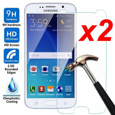 2x 9H Tempered Glass Screen Protector Film For Samsung Galaxy J3/J5/J7 2017/2016