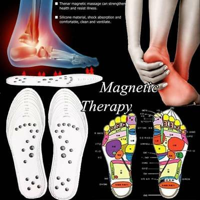 1Pair Foot Care Cushion Acupressure Slimming Insole Pad Magnetic Massage Insoles
