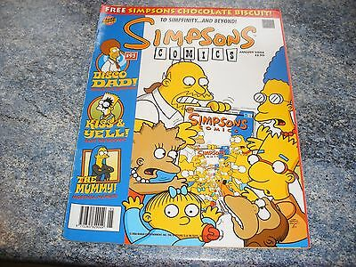 The Simpsons August 2004 Comic 95 Complete With Pull Out To Simpfinity & Beyond