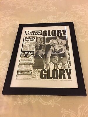 Coventry City FC - FA Cup Final 1987 - Framed Newspaper Print (Copy)