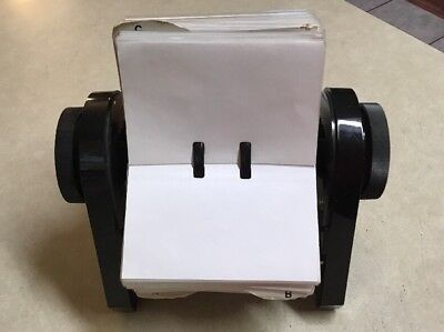 Rolodex Open Rotary Business Card File With A - Z Tabs Dividers Plastic Holders