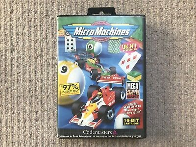 BOX ONLY Micro Machines - Megadrive Box Only