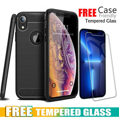 Carbon Fiber Heavy Duty Shockproof Case Cover For Apple iPhone X XR XS Max 8 7 6