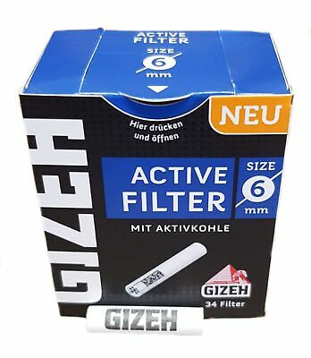 Gizeh ACTIV Filter Slim 1x34er ø6mm 27mm lang