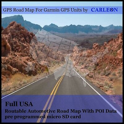 Full USA  America  For Use With Garmin GPS/Sat Nav Map   GPS New Maps NEW 2018