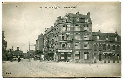 CPA - Carte Postale - France - Dunkerque - Avenue Thiers - 1920 ( SV5739)