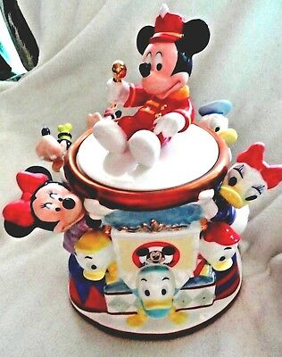 Disney Mickey Mouse Club  Cookie Jar Ceramic Retired NEW Mint FREE SHIPPING