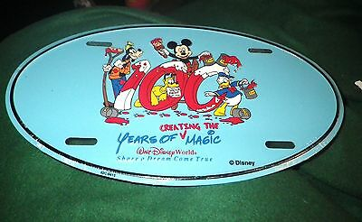 Disney World Cast Member Oval License Plate 100 Years Creating Magic NEW Metal