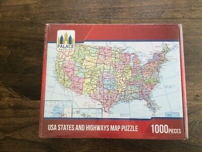 New United States Map Puzzle 2018 1000 Piece Jigsaw W Cities
