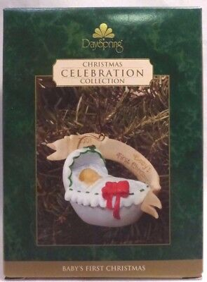 NEW DaySpring Ornament 2001 BABY'S FIRST CHRISTMAS Celebration Collection
