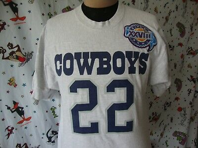 Dallas Cowboys Emmitt Smith Jersey T Shirt Sz M Vintage Russell Athletic d60c8e11d