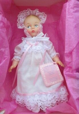 "Nib Madame Alexander~""christening"" Little Miss Genius~703~Hang Tag~Complete+Mint"