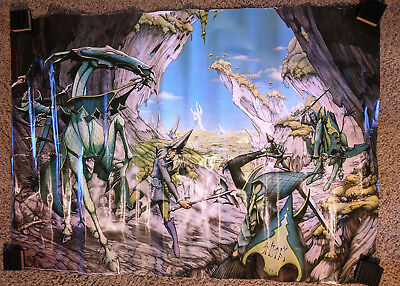 "1977 Rodney Matthews ""People of the Pines"" Fantasy Artwork Poster, 24x36"" Prog!"