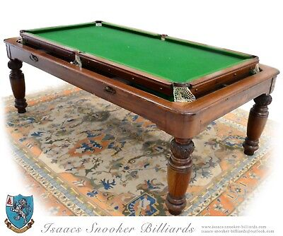 7X4 Roll Over Snooker Billiard Pool Dining Table 1880 Antique Chairs x6 Free del