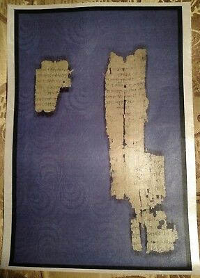 Papyrus Fragment St John's Gospel 3rd century.GIFT COLLECTION New