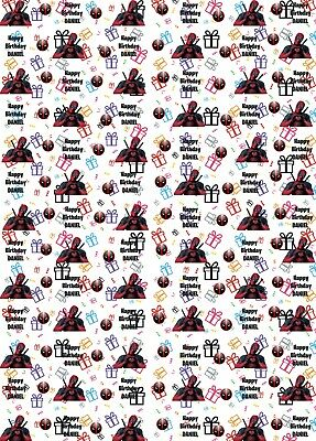 Personalised Deadpool inspired Birthday Wrapping Paper