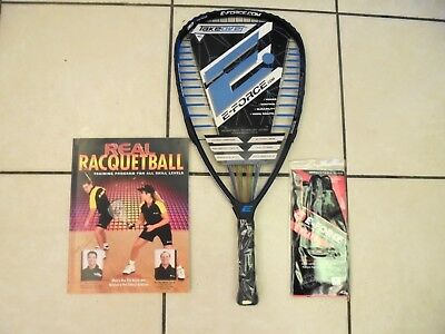 """New 2018 E-Force Takeover 190G Racquetball Rqt  3 5/8"""" Grip Incl.  2 Free Items"""