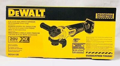 "DeWalt 20V DCG413B 4.5"" Brushless Angle Grinder with Brake Tool Only New in Box"