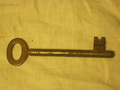 "antique skeleton key rusty vintage old iron lock hardware solid metal 4"" .B"