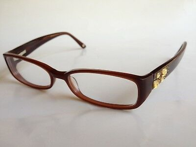 84617f168b4 BEBE BROWN PRESCRIPTION Eyeglasses Yellow And Brown Stones Women 52 ...