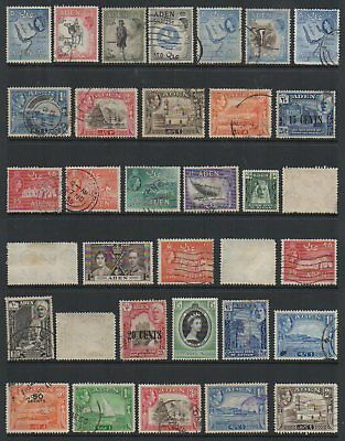 (283) British colony ADEN used stamps lot - PDD