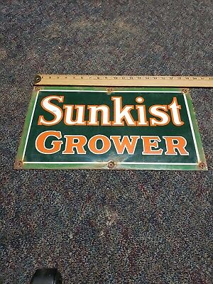 sunkist grower porcelain sign gas and oil