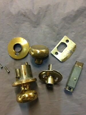 Vintage/Antique 1930s,40s, Bathroom or bedroom Privacy Brass Door Knob, OEM USA.