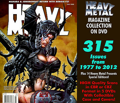 Heavy Metal Magazine 445 Issues, Comics and Books 1977-2012 Complete Set on DVD