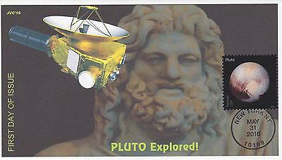 Jvc Cachets - 2016 Pluto Explored Issue Fdc First Day Cover - Space Science #2