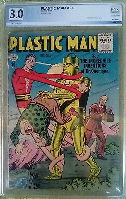 Plastic Man #54 (Jun 1955, Quality Comics) 3.0 GD/VG PGX (like CGC)