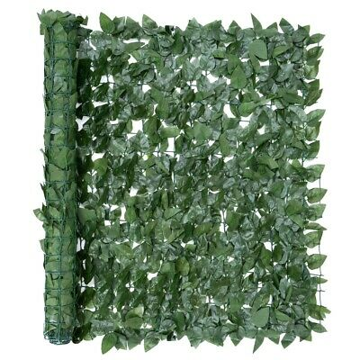 Artificial Green Leaf Hedge Roll Screening Privacy Screen Garden Fence 1m x 3m
