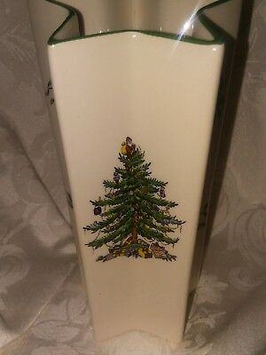 Spode Christmas Tree Star Vase 7 12 2000 Picclick