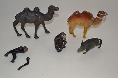 5 Piece Britains Zoo assorted lot of vintage Hollowcast Lead Figures Lot 4